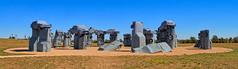Carhenge Panorama (William Horton Photography) Tags: alliance artnouveau carhenge nebraska stonehenge afternoon autoparts automobiles horizontal panorama sculpture