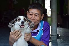 grandpa showing off his best friend (the foreign photographer - ฝรั่งถ่) Tags: man grandpa holding dog khlong thanon portraits bangkhen bangkok thailand nikon d3200