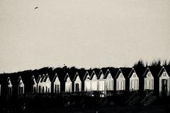 Beach House...... (rienschrier) Tags: blackandwhite sunset house huis beach strand