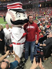 Andy's Birthday at GAPB (primemover88) Tags: mlb cincinnati reds great american ball park baseball mrredlegs mascot