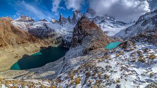 Monte Fitz Roy, Laguna de Los Tres e Laguna Sucia.