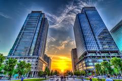 0501_Tokyo1 (ok_ntm) Tags: japan tokyo skyscraper architecture sunset sky building