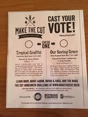 Make the Cut 4 voting (found_drama) Tags: makethecut vermont vt vermontbeer craftbeer tropicalgraffiti oursavinggrace homebrew homebrewing mulebar winooski