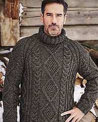 Men in aran fisherman turtleneck (Mytwist) Tags: vosges husband mens mans male wedding gift qx aranstyle aran aranjumper aransweater arran fisherman irish donegal fashion vintage heritage dublin wool sweater jumper pattern honeycomb cabled craft classic design exclusive knitwear love passion traditional timeless thick grobstrick turtleneck retro casual soft cozy bulky heavy knitted handgestrickt modern men wife mytwist raglan textured charcoal chunky