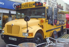 Doncaster food festival 2018 - school bus (Tony Worrall) Tags: britain english british gb capture buy stock sell sale outside outdoors caught photo shoot shot picture captured england regional region area northern uk update place location north visit county attraction open stream tour country festival market items food foodie eat street doncaster donny doncasterfoodfestival2018 2018 deliciousdoncaster
