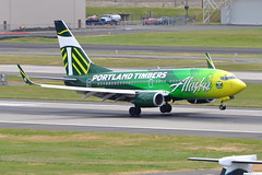 Alaska Airlines - Boeing 737-700 - N607AS - Portland Timbers - Portland International Airport (PDX) - June 3, 2015 3 443 RT CRP (TVL1970) Tags: nikon nikond90 d90 nikongp1 gp1 geotagged nikkor70300mmvr 70300mmvr aviation airplane aircraft airlines airliners portlandinternationalairport portlandinternational portlandairport portland pdx kpdx n607as alaskaairlines alaskaairgroup portlandtimbers speciallivery boeing boeing737 boeing737700 737 737ng b737 b737ng 737700 737700wl boeing737790 737790 737790wl aviationpartners winglets cfminternational cfmi cfm56 cfm567b24