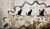 Els 4 gats (Aviones Plateados) Tags: wall pared paret gatos cats gats chats muro animales animals graffiti poblenou barcelona mobile cell smartphone phone camera 4 four cuatro quatre decay decayed