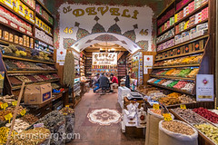 Inside spice store at Istanbul Spice bazaar in Turkey with a group of men sitting and conversing around small table. (Remsberg Photos) Tags: bazaar market souk spice istanbul turkey egyptianbazaar commerce business retail shopping exchange commodities vendor bountiful abundant forsale marketplace indoor choice storefront selection products goods standing food freshness eminonuquarter fatihdistrict middleeast famousplace traveldestination consumerism economy