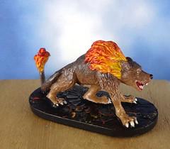 Hellhound-Devil-Demon-Fiend-Painted-Miniature-01 (Dead Bard Miniatures) Tags: painted pathfinder ralpartha reaper chainmail chronoscope miniature dungeons dragons dd dnd warhammer wotc