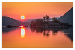 Norfolk Island Sunrise, Ullswater (muddybootsuk) Tags: ullswater sunrise norfolkisland dawn reflections water early morning lakedistrict red redskies orange sun muddybootsuk nikon d810 nikkor2835mm north northern england greatbritain unitedkingdom pooleybridge cumbria