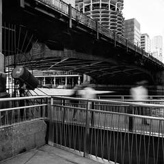 I Think We're Going To Need A Bigger Spotlight.jpg (Milosh Kosanovich) Tags: longexposure fujimicrofine11 tmax100 riverbridge chicagoriverwalk hasselblad500cm miloshkosanovich mickchgo chicagophotoart chicagophotographicartscom chicagophotographicart chicago