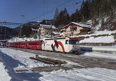 Rhb Ge 4/4 III 649 Tiefencastel 10/01/2009 (stefano.trionfini) Tags: train treni bahn zug rhb ge44iii retiche albula grigioni svizzera suisse rhätische