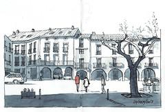 Plaza porticada (P.Barahona) Tags: urbano rural balcones pórticos plaza arcos árbol