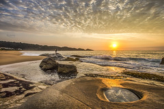 Sunrise in Estaleirinho Beach (rqserra) Tags: sunrise beach clouds wave splash rocks landscape rqserra brazil