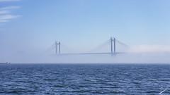 Ponte de Rande entre la niebla, Vigo, Pontevedra, Galicia (jcfasero) Tags: puente bridge niebla fog vigo pontevedra galiza galicia rande color samsung note8 outdoor mar seascape