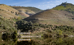 Along the Douro (Leaning Ladder) Tags: portugal régua pinhão douro river railroad reflections dourovalley landscape scenic wine leaningladder canon 7d mkii mountain trains