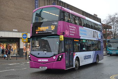 First Wright StreetDeck 35187 SK16GVF - Leicester (dwb transport photos) Tags: first leicester wright streetdeck bus decker 35187 sk16gvf