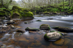 Springtime on the Lyne. (CamraMan.) Tags: shankwood rocks moss riverlyne longexposure leepolariser leebigstopper manfrotto sonya7 cumbria longtown ©davidliddle ©camraman