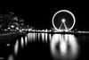 The Great Wheel (MikeWeinhold) Tags: seattle washington thegreatwheel city 1740mm 6d longexposure ferriswheel cityscape blackandwhite