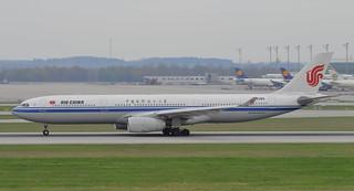 B-8385 Airbus A330-343 Air China Take-off at Munich Airport 15-4-18