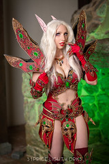 Blood Elf (S1Price Lightworks) Tags: blood elf wow world warcraft cosplay cosplayer girl fantasy azeroth gel blizzard fun beauty green gels