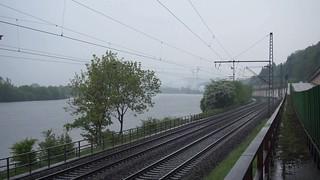 Parallelfahrten zwischen Trier und Karthaus mit 03 1010 und 52 8154-8
