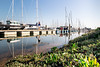 Walk On Water (NVOXVII) Tags: lymington water boats reflection hampshire bluesky landscape lowdown perspective harbour marina may spring