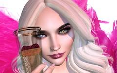 Cheers (DaniGraphix Resident) Tags: hausofgraphelle secondlife sl avatar fashion fantasy beauty makeup iheartsl izzies tresbeau doux lelutka