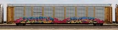 Bozo/Bubz (quiet-silence) Tags: graffiti graff fr8 train railroad railcar art freight bozo bubz h2 etc rtd ferromex autorack ttgx978766