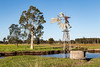 Old windmill with broken vanes (dean.white) Tags: australia au newsouthwales nsw midnorthcoast oxleyisland farm windmill cometwindmill tree paddock grass field landscape rural agriculture canoneos6d canonef24105mmf4lisusm
