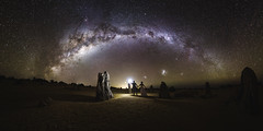 The Lovers' Tryst (ASTRORDINARY) Tags: astrophotography astronomy astro astrordinary flash milkyway night nightscape nightsky panorama couple wedding australia westernaustralia perth nikon d750 20mm gigapan tryst longexposure pinnacles starscape
