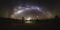 The Lovers' Tryst (ASTRORDINARY) Tags: astrophotography astronomy astro astrordinary flash milkyway night nightscape nightsky panorama couple wedding australia westernaustralia perth nikon d750 20mm gigapan tryst longexposure pinnacles starscape
