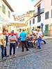 Madeira, Portugal. Funchal Street (dimaruss34) Tags: newyork brooklyn dmitriyfomenko sky clouds portugal madeira svetlanafomenko buildings funchal people tree