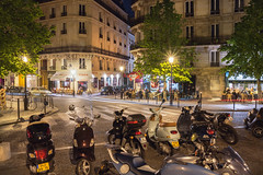 Rue Jean du Bellay (Dmitry Yelloff) Tags: france paris street town travel night european old building center architecture french city streetlight tourism europe illuminated lights cafe homes capital exterior outdoor nightlife residence apartments bar pub motorbikes bikes scooters vehicles transport parking lot vintage mopeds motorcycles road classical oldfashioned style retro crossroads ruesaintlouisenllle ruejeandubellay