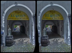 Gateway towards the market place 3-D / Stereoscopy / CrossEye / HDRaw (Stereotron) Tags: saxony sachsen vogtland reichenbach europe germany deutschland quietearth torbogen gate pflastersteine crosseye crossview xview pair freeview sidebyside sbs kreuzblick 3d 3dphoto 3dstereo 3rddimension spatial stereo stereo3d stereophoto stereophotography stereoscopic stereoscopy stereotron threedimensional stereoview stereophotomaker stereophotograph 3dpicture 3dimage hyperstereo twin canon eos 550d yongnuo radio transmitter remote control synchron kitlens 1855mm tonemapping hdr hdri raw