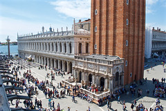 Busy Piazza San Marco, Venice (GSB Photography) Tags: italy venice venezia venesia veneto ladominante serenissima queenoftheadriatic cityofwater cityofmasks cityofbridges thefloatingcity cityofcanals venetianlagoon sanmarco square piazzasanmarco city medieval europe european italian unesco beauty belltower palace campanile architecture boat icon iconic history historical sky clouds biblioteca nikon d60