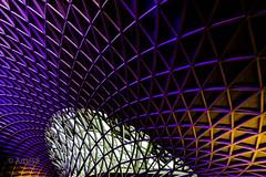 Light and Lines (ARTUS8) Tags: pattern nikon1635mmf40 abstrakt öffentlichesgebäude muster linien modernearchitektur nikond800 flickr bahnhof dach roof