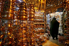 shopping delight (freakingrabbit) Tags: iran persia bazaar bazar copper golden inside tschador shop shopping fars teheran