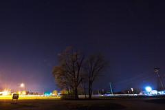127/365 (local paparazzi (isthmusportrait.com)) Tags: 365project canon5dmarkii 1635mmf28ii lopaps pod 2018 redskyrocketman localpaparazzi isthmusportrait 1635 ultrawide wideangle iso400 darkness shadow lowlight longexposure slowshutterspeed afterdark lighttrails westportwi danecountywisconsin stars starry starrynight nighttime night lightpollutionheavy croppost processing postprocessing lightpollution yaharaheightscountypark
