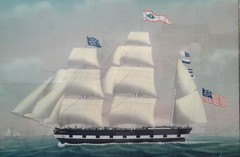 The Bark Saxony of Boston (Old Derby) Tags: bark saxony petrusweyts weyts reversepaintingonglass hersey shipping