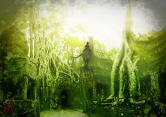 כּוּשׁ (Arthur Zdrinc) Tags: digital art arthurzdrinc painting dark illustration light design digitaldesign overgrowntomb green mana black forest cush swampforest כּוּשׁ kush bible conceptart conceptartist demon terror