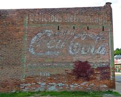 Tagged Coke ghost (jimsawthat) Tags: brick ghostsign vintagesign coke cocacola smalltown ottumwa iowa