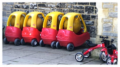Just when you thought your had the only one! (The Stig 2009) Tags: fun nursery car park playground church balls trike apple iphone 8 plus thestig2009 thestig stig 2009 2018 tony o tonyo space hopper bike colourful multicoloured red yellow