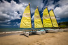 yellow sail (ISP Bruno Laplante) Tags: catamaran sail boat boats sea clouds yellow sky blus sand beach stjames st lucia sainte lucie caribbean vacation