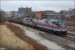 AMTK 130 (Justin Hardecopf) Tags: amtk amtrak 130 ge p42 heritage phase ii 6 californiazephyr passenger downtown omaha nebraska railroad train