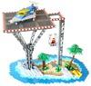 Tropical Landing Pad (Missing Brick) Tags: lego space scifi island ll918 neo classic beach rocks palm trees elevator