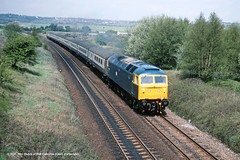 06/05/1983 - Beighton, Sheffield, South Yorkshire. (53A Models) Tags: britishrail class47 47533 diesel passenger beighton sheffield southyorkshire train railway locomotive railroad
