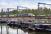 Narrowboats Meet Bullet Trains 01 - Old Eurostar (eibonvale) Tags: stpancras stpancrasbasin london train railway canal narrowboats bullettrain waterway eurostar