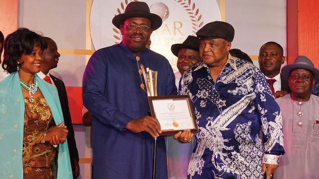 HSDickson - Recieves AIT Governor of the Year Award for transparency and accountability, Abuja, March 15 2018