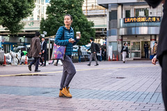 Feeling Puffy (burnt dirt) Tags: asian japan tokyo shibuya station streetphotography documentary candid portrait fujifilm xt1 laugh smile cute sexy latina young girl woman japanese korean thai dress skirt shorts jeans jacket leather pants boots heels stilettos bra stockings tights yogapants leggings couple lovers friends longhair shorthair ponytail cellphone glasses sunglasses blonde brunette redhead tattoo model train bus busstation metro city town downtown sidewalk pretty beautiful selfie fashion pregnant sweater people person costume cosplay umbrella wet rain blue purple